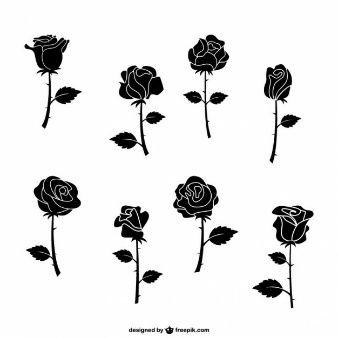 Pack de rosas negras