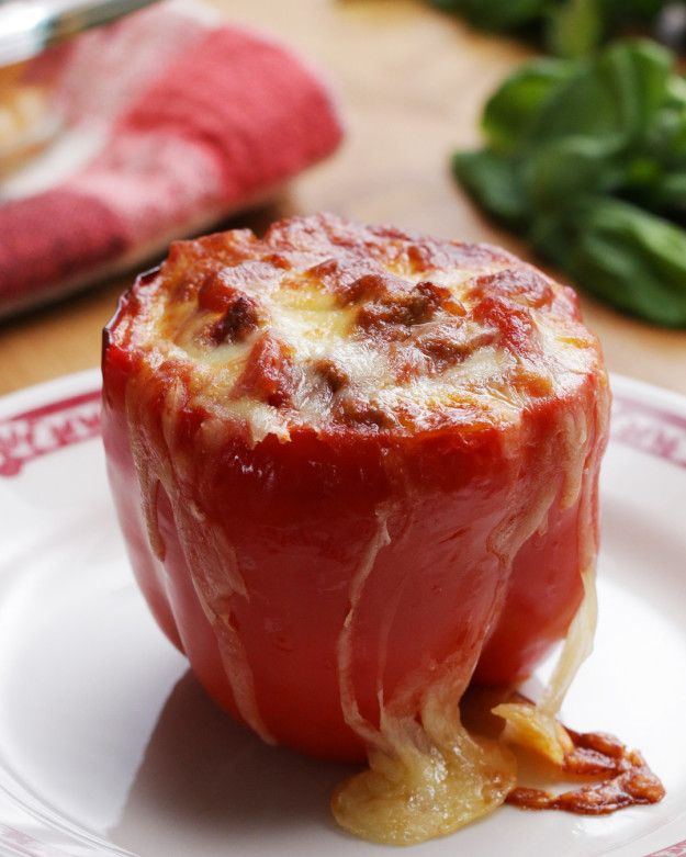 Lasagna-Stuffed Peppers | Lasagna-Stuffed Peppers... I think these would taste great w/o the lasagna, will try it!