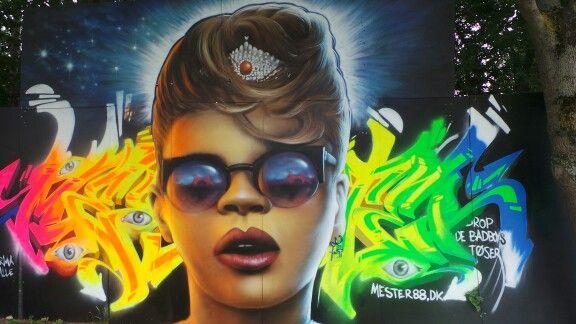Graffiti på Roskilde #rf13 #3rf13 #Samsunggalaxycam #Rihanna