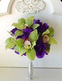 Cymbidium orchids and lisianthus.