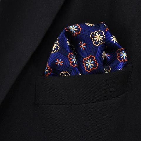 Blue Martini - 100% Silk Pocket Square – Styles By Kutty