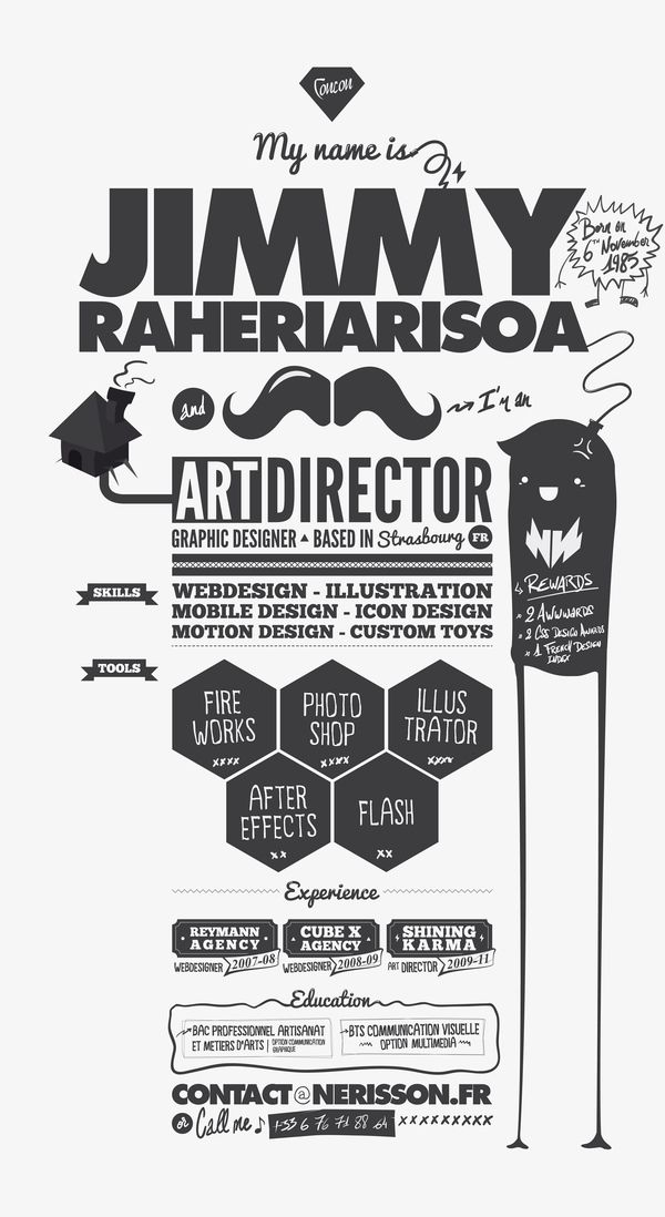 Resume by NERISSON , via Behance