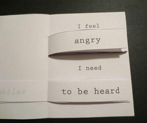 self-care flipbook to help communicate your feelings!