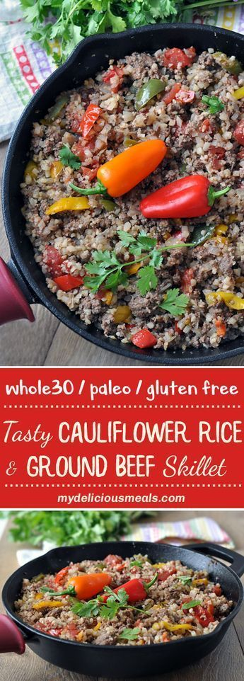 This easy Tex-Mex cauliflower rice and ground beef recipe is a healthy meal the whole family will love. It's also a one-pot wonder, Whole30 compliant and you're going to love it! A perfect weeknight meal when you're in a rush and want a break from your us