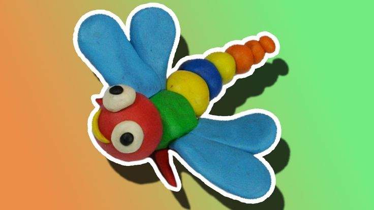Play doh art for kids | How to Make Play Doh Dragonfly, Play Doh Animals...