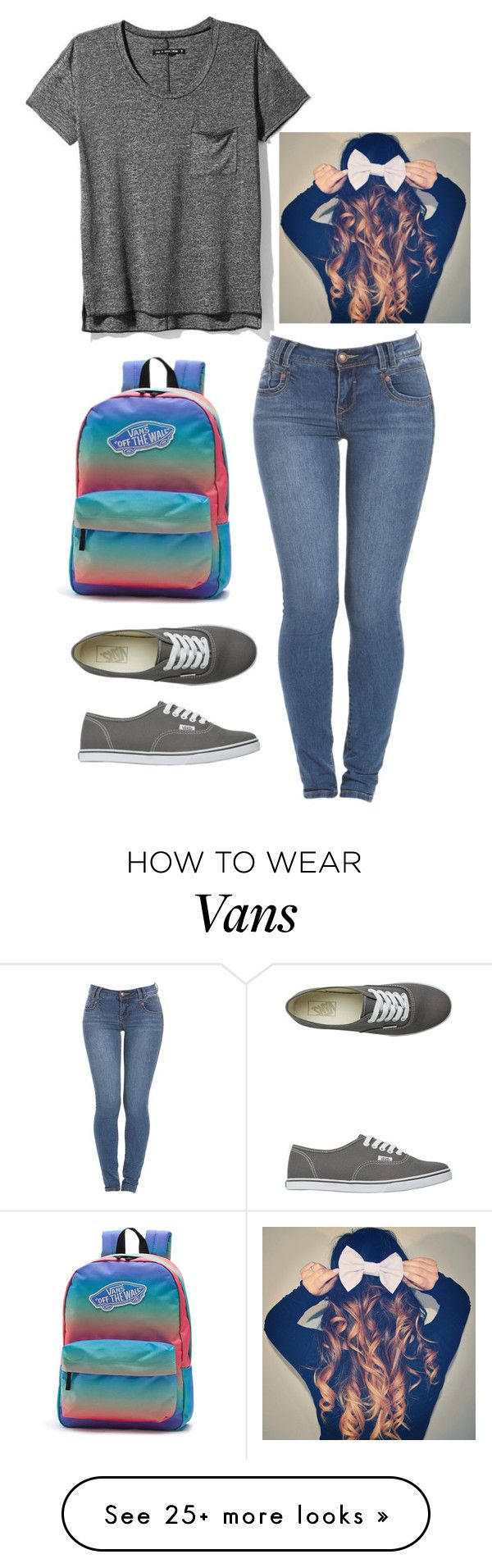 """""""Grey!<3"""" by lexi-lorenze on Polyvore featuring Vans, rag & bone, women's clothing, women's fashion, women, female, woman, misses and juniors"""