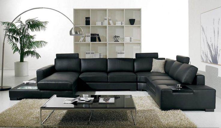 Modern Leather Living Room Furniture Ideas