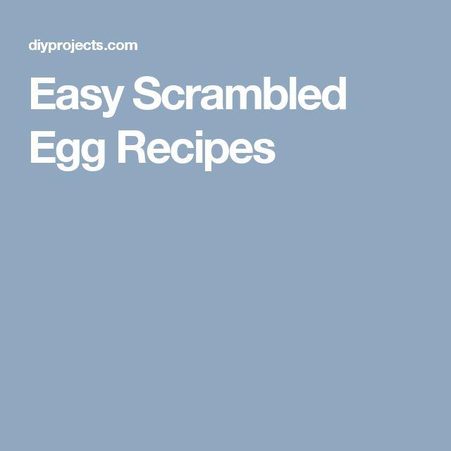 Easy scrambled eggs recipe
