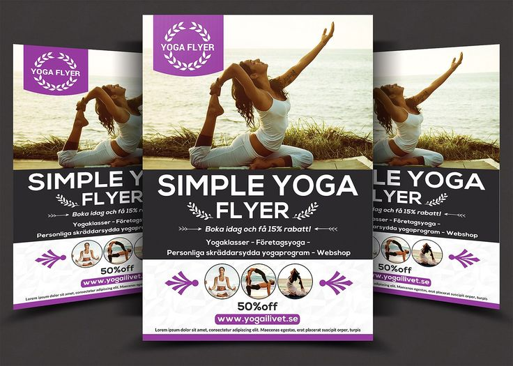 Yoga Flyer Template PSD, Word and InDesign Format YOGA WEAR - yoga flyer