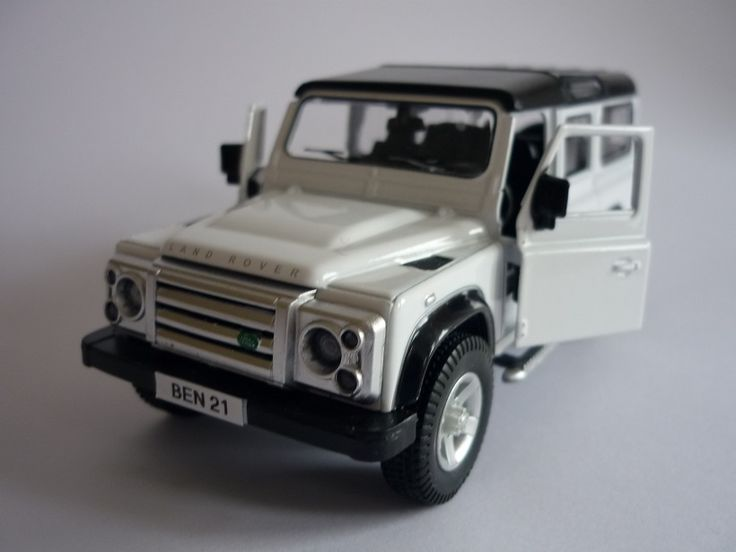 PERSONALISED PLATE White LAND ROVER DEFENDER