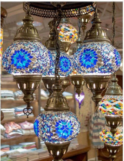 Mosaic round pendant chandeliers from turkey