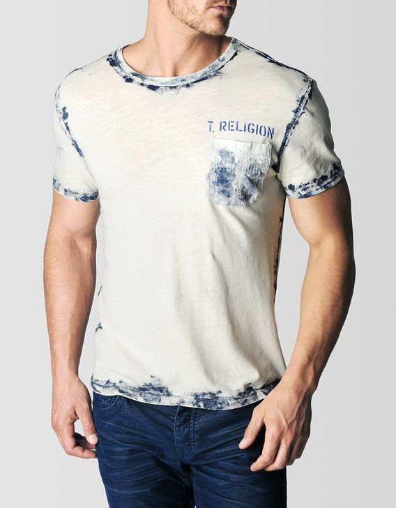 A classic pocket tee with a True Religion twist. This crew neck shirt combines our deeply rooted passion of indigo denim and incorporates it into a...