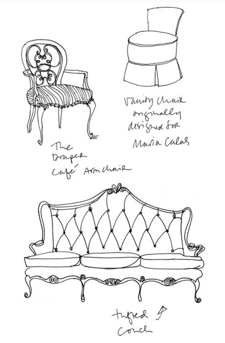 Interior Design Room Drawings Simple: 121 Best Images About Design-Sketching-Chair & Sofa On