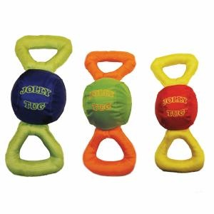 Jolly Tug Dog Toy squeaks when both ends are pulled simultaneously - Fetch Dog