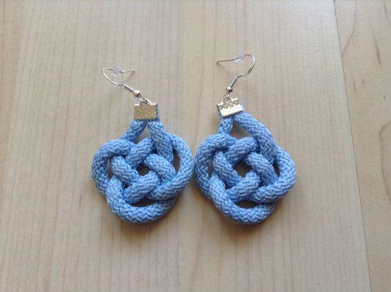Cotton earring. Knot earring. Celtic knot earring. by Kreseme