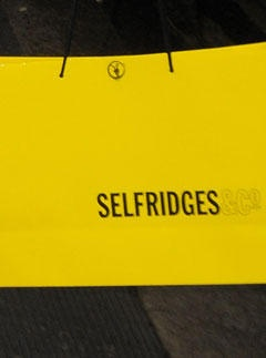 our day out will include a visit to Selfridges