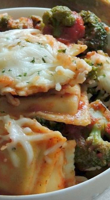 Broccoli & Tomato Ravioli Bake | Recipe | Ravioli Bake, Ravioli and ...