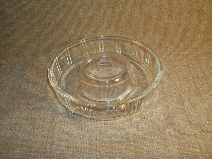 Ring Mold Antique 1930's Round Glass Queen Anne Bakeware by GLASBAKE Bundt Jello Gelatin Hot Cold Donut Dish