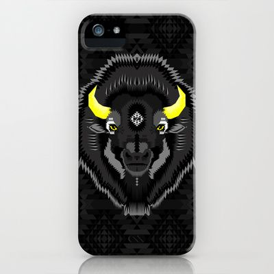 Geometric Bison iPhone & iPod Case by chobopop - $35.00