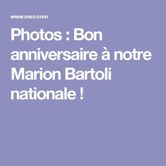 Photos : Bon anniversaire à notre Marion Bartoli nationale !