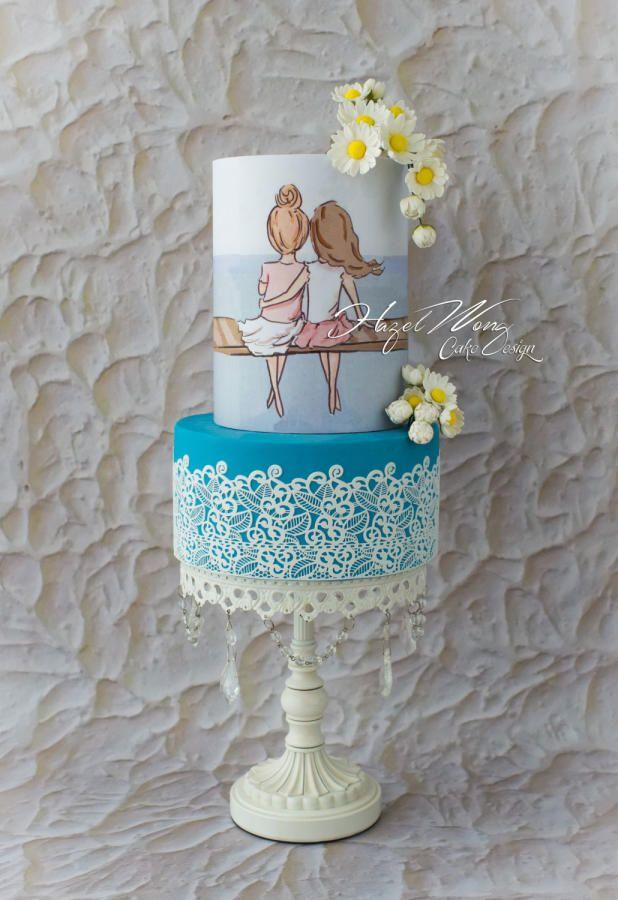 Friendship Love - A Best Friend's Collaboration - Cake by Hazel Wong Cake Design