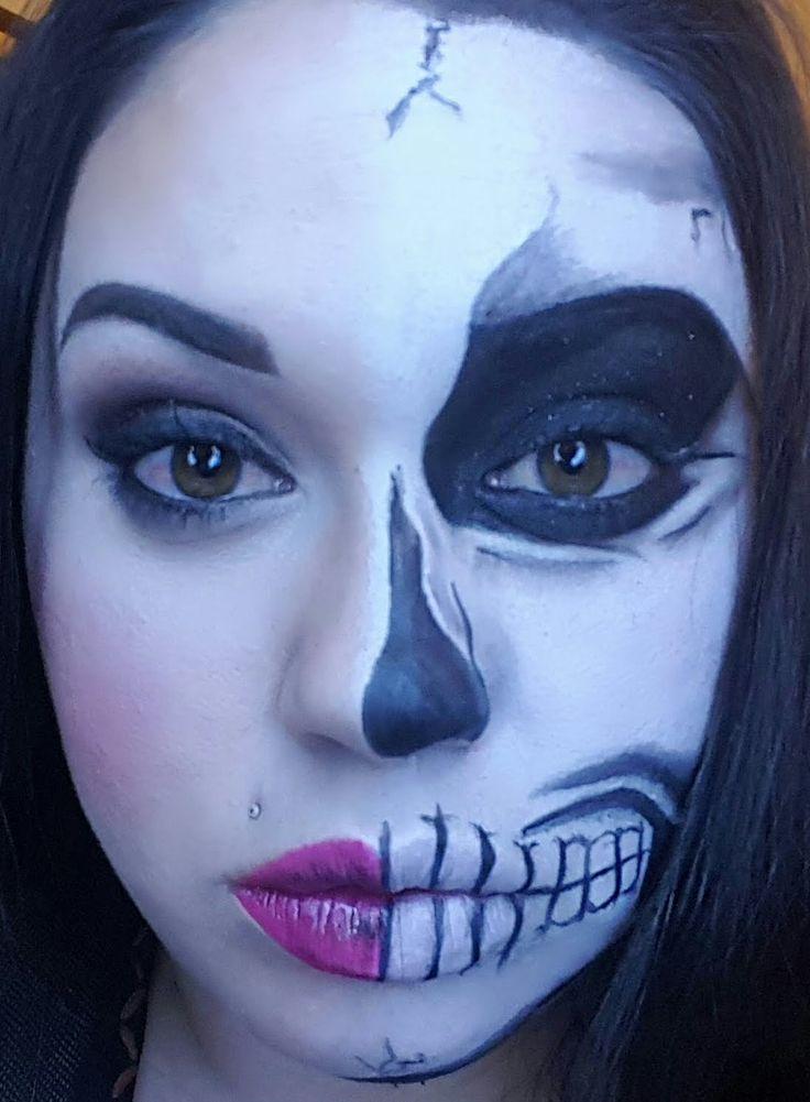 Halloween Makeup Tutorial | Half Skull Glam