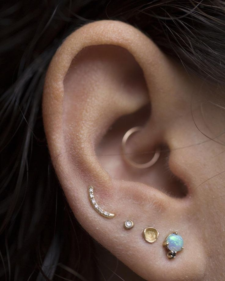 Simple Daith Piercing Jewelry Rings at MyBodiArt
