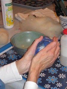 tvåltovning Margaretas händer