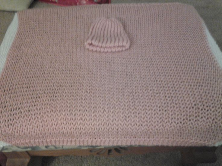 Knitting Edges Garter Stitch : Baby blanket and matching beanie trim done