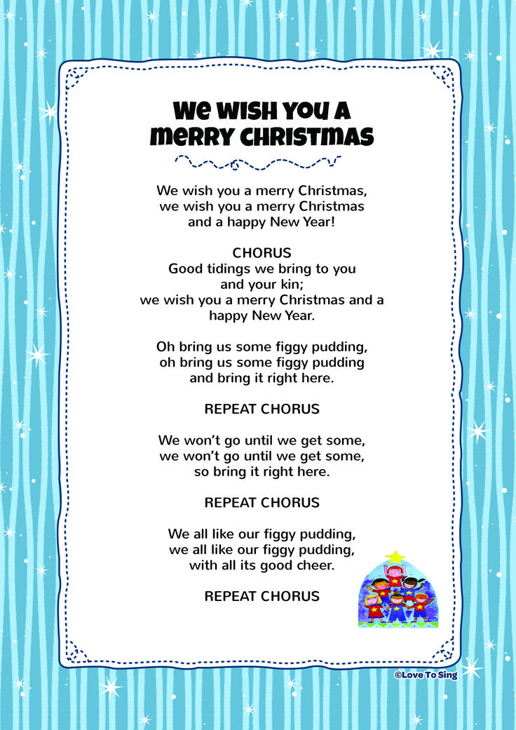 we wish you a merry christmas lyrics Collections of