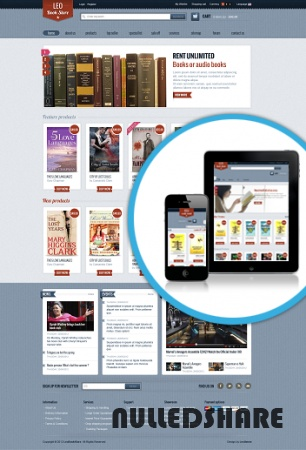 Leo Bookstore Template for Joomla 2.5