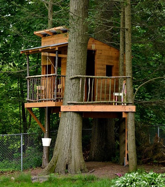 treehouse with front porch