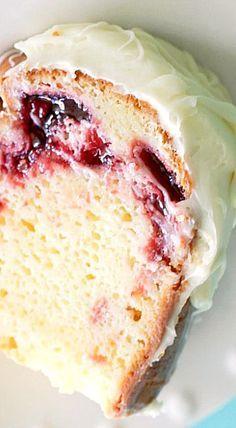 White Chocolate Raspberry Bundt Cake ❊