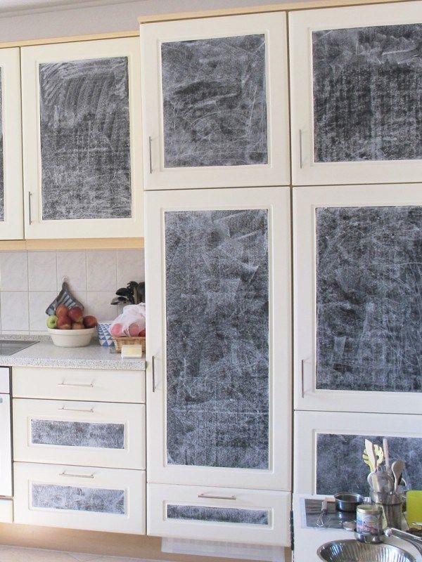 Einkreiden, Tafelfolie, AUfkleben, Küche, Fronten, Neugestaltung - selber machen küche