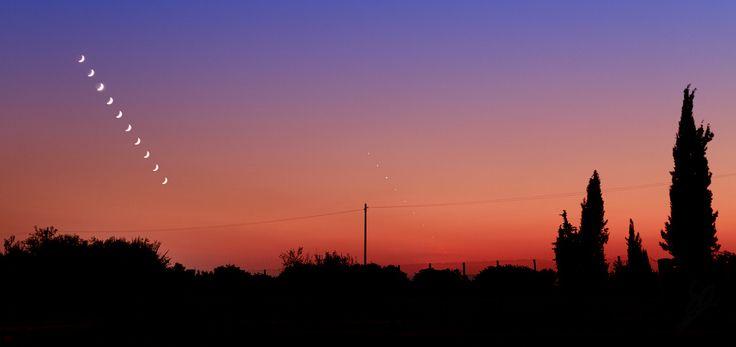 Moon and Venus twilight