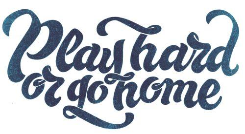 Play hard or go home by Vika and Vita Lopukhiny, via Behance
