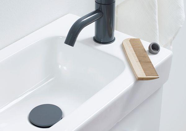 Micro Menuet washbasin - space saving with a spacious bowl.