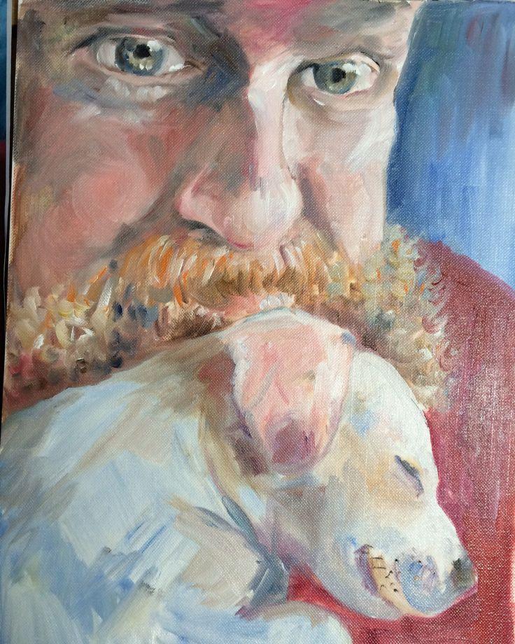 Portrait. Oil painting. Art.