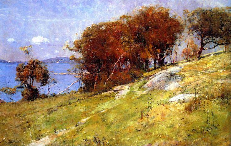 Cremorne Pastoral by Sir Arthur Ernest Streeton (8 April 1867 – 1 September 1943) an Australian landscape painter and leading member of the Heidelberg School