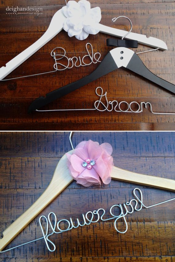 personalized wedding hangers for the entire wedding party! https://www.etsy.com/shop/deighandesign