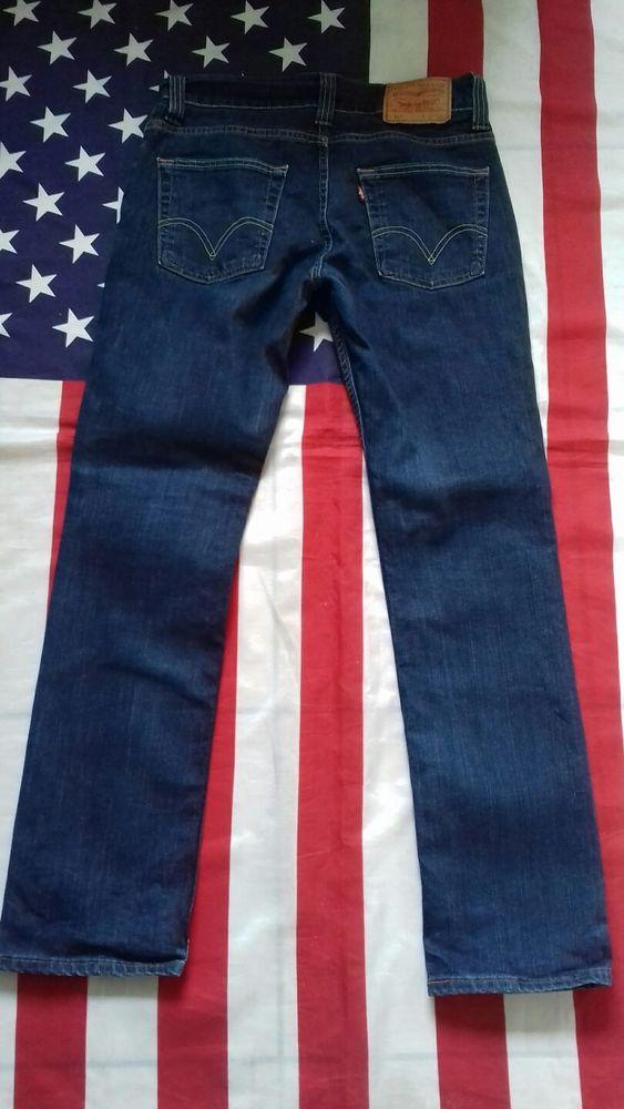 3f8834bedc35c LEVIS 511 Slim vintage dark Blue stretch Denim Jeans W 32 L 31 Levi
