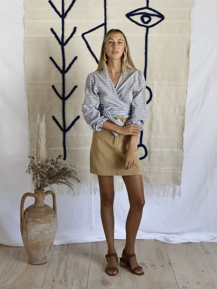 ORLA SKIRT| BARK Vintage Levi skirt inBark corduroy Alsoavailable in Grey linen Cool machine wash. line dry. cool iron. do not bleach. please use environmentally friendly detergents