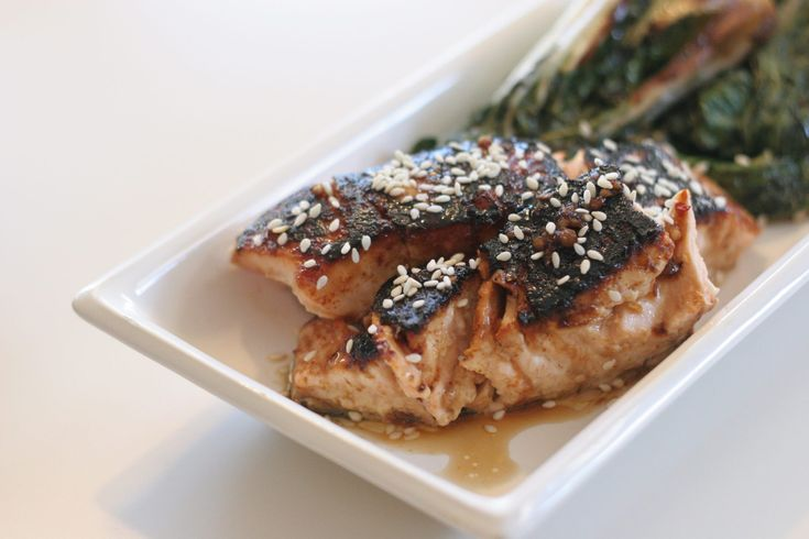 simple sweet salmon bok choy