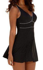 Bademode günstig kaufen   LASCANA Damen Badekleid schwarz   04893848558767