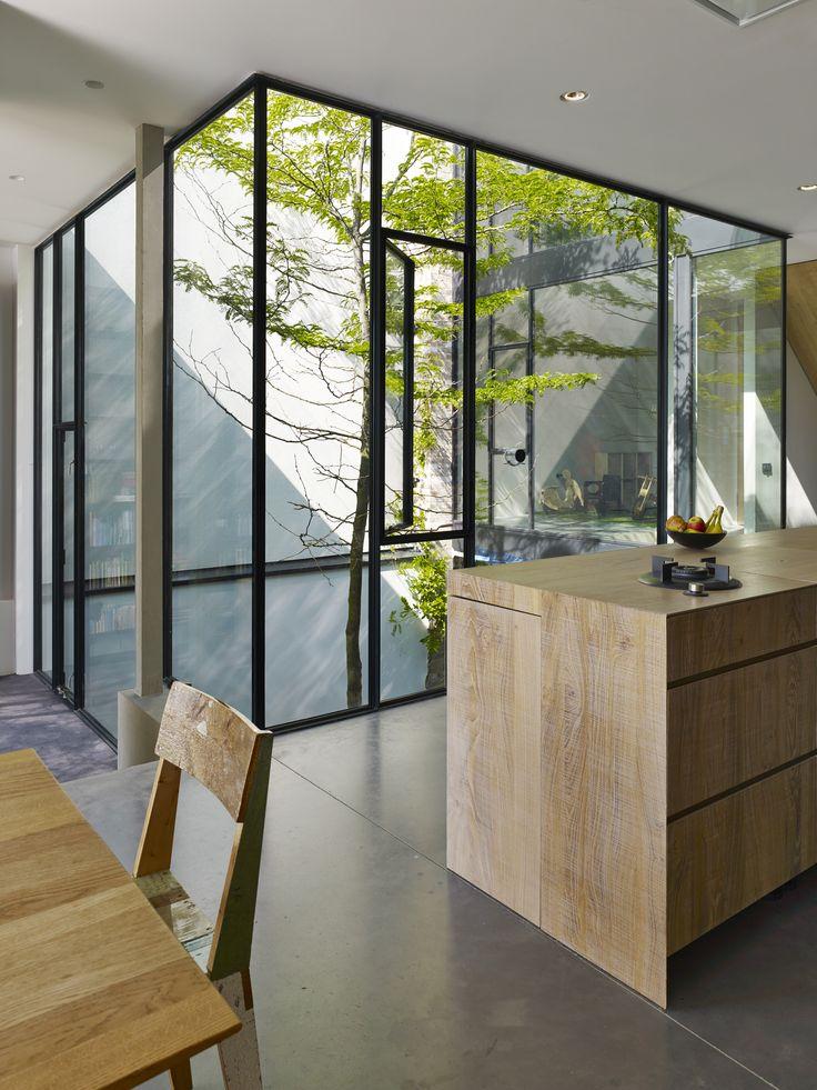 view into courtyard - private house - Rieteiland, Ijburg, Amsterdam, Netherlands
