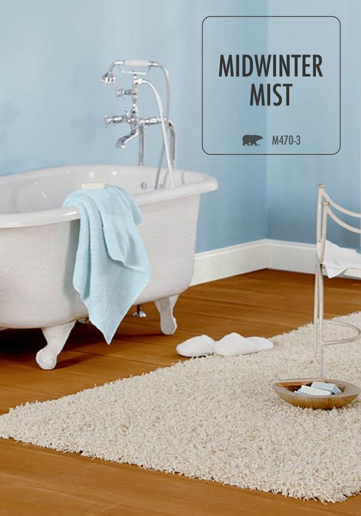 Nothing Says Relaxing And Spa Like Quite Like Light Blue Midwinter Mist On  The Walls Of Your Bathroom. With Help From BEHR Paint, Creating Your Own  Oasis Is ...