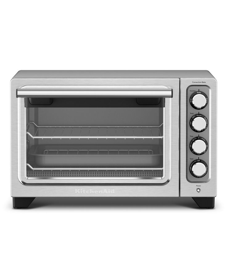 Kitchenaid Kco253cu Convection Toaster Pizza Oven Contour Silver Front Zoom Compact Oven Countertop Oven Kitchen Aid