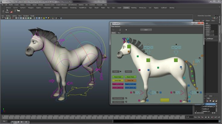 horseRigDemo. Rigging of a horse i've been doing in the last couple of days