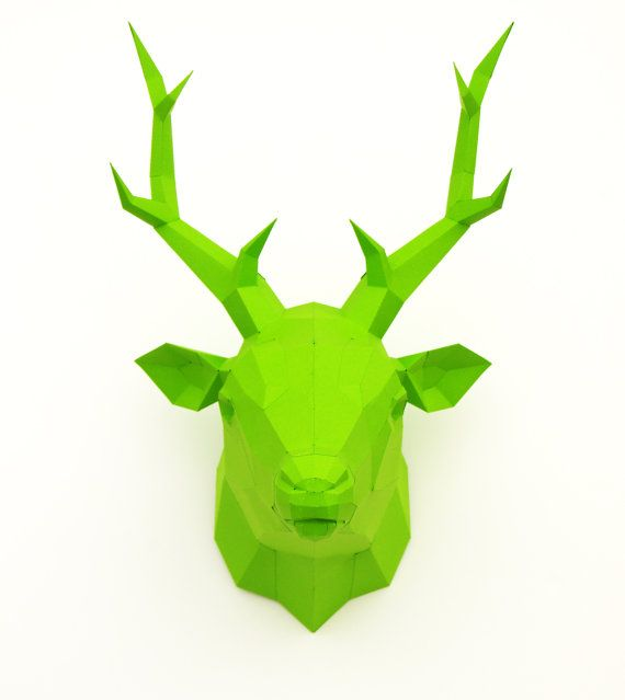 Papercraft template deer stag paper hunt trophy by PaperwolfsShop, €50.00