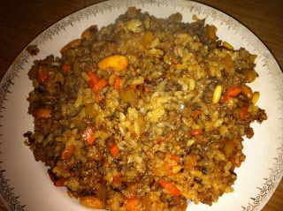 Arroz marroqui. Un deliciosa receta, muy sencilla de preparar, especial para una velada arabe. INGREDIENTES: 250g de carne picada ( yo use ternera y cerdo) 1 taza de arroz (del tipo que más os guste)... Read More